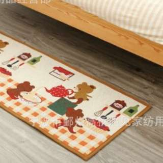 Floor mat kitchen bear
