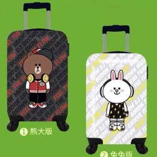 全新中國信託Line行李箱 最新熊大版 20吋ABS行李箱