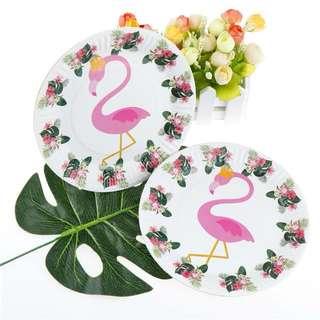Flamingo Paper Plates & Cups Set