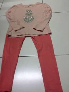 Top and Leggings Set for 5y