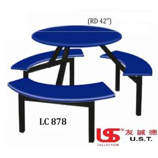 Canteen Set Bench Table Dining Kitchen Stool Chair