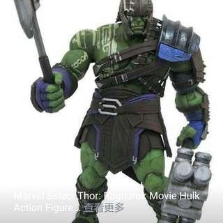 訂9月Marvel Select Thor Ragnarok Movie Hulk Action 變形俠醫1款