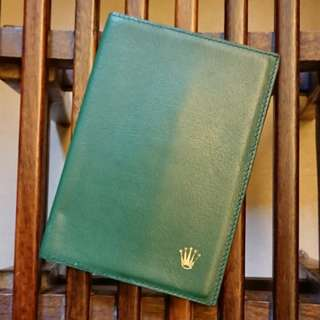 Rolex Green Leather Passport Wallet New Old Stock Rare