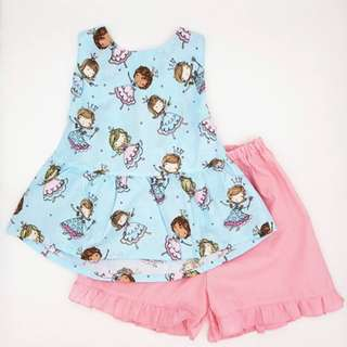 Little Princess big bow tie back 2pcs set