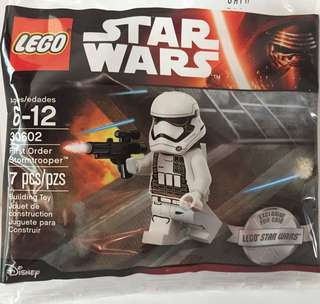 LEGO STAR WARS 30602 FIRST ORDER STORMTROOPER MINIFIG POLYBAG DISNEY EXCLUSIVE