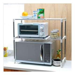 Rak Dapur Portable Serbaguna 2 susun Microwave Storage