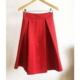 Vintage Red Skirt