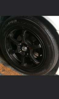 "Cs3 15"" rims and tyres. 195/55/15"