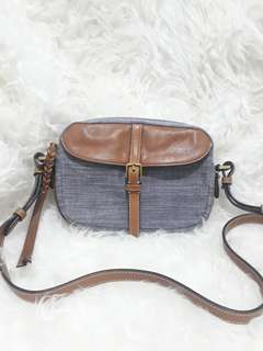 Fossil kendall crossbody chambray