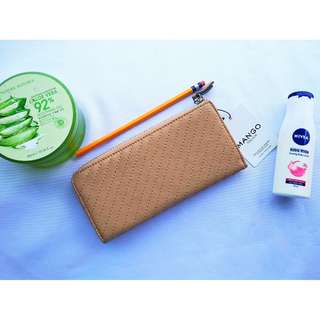 MANGO Touch Tassel Quilted Long Wallet