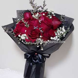 Red rose bouquet with delivery