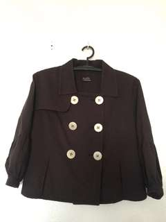 Susto Double Breasted Brown Jacket