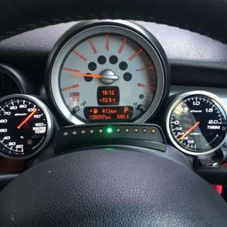 Mini Cooper R56 Dueil Ag meter holder with Defi gauges