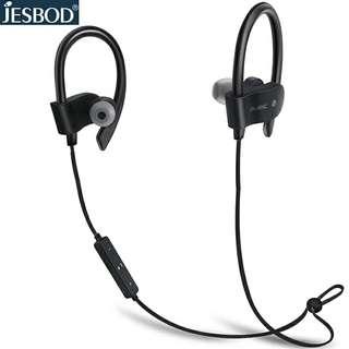 🆕🆒Jesbod S1 Bluetooth earphones IPX4 sweatproof wireless sports earphone ear hook with mic for iPhone xiaomi samsung iphone X - 2018 Latest Model