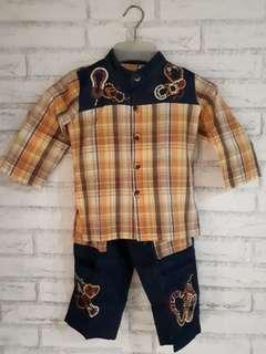 #MakinTebel Baju Koko anak Dannis usia 5th