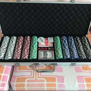 500 Poker Chips Set with Casing
