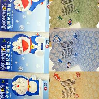 地鐵 多啦A夢 Doraemon 紀念車票 一套三張