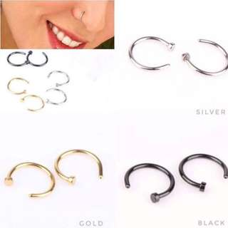 Silver Fake Nose Ring