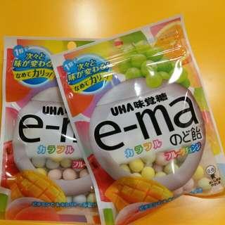 【UHA】e-ma 雜果潤喉糖 50g