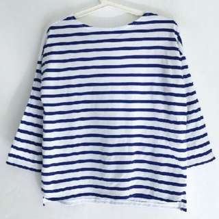 8Second Bow Back Stripe Japan Tee