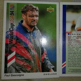 Paul Gascoigne upper deck world cup 94