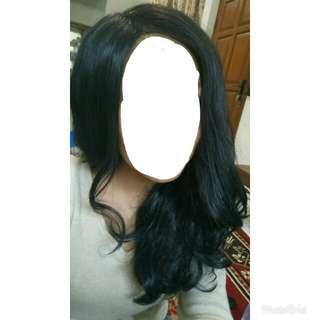 Wig hitam panjang