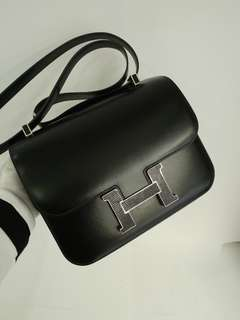 Hermes constance 24 lizard in black