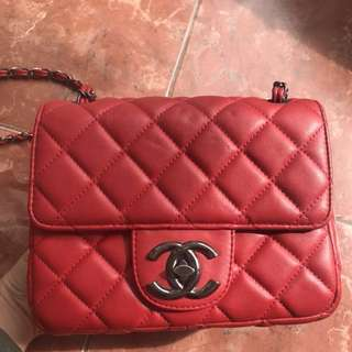 Chanel Red Sling Bag