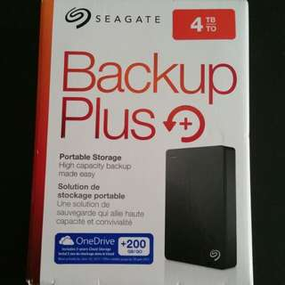 Seagate Backup Plus 4TB Seagate backup plus External Hard Drive 4TB New in Box