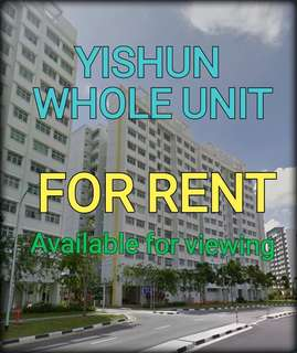 Yishun 4 room (Model A) for rent.