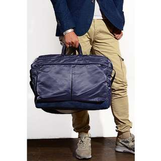 porter運動sports斜咩袋shoulder手挽側背包boston bag波士頓包duffle商務旅行business trip travel藍色 Blue
