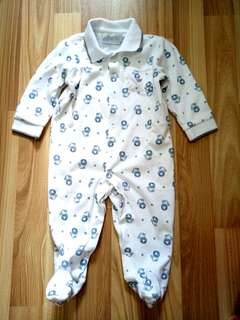 BN EPK by France Baby Boy Romper with Booties