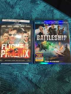 Battleship/Flight of the Phoenix, blu ray, 2 films