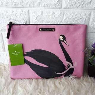 Kate Spade Pouch Large swan arround 585