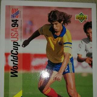 Andres Escobar USA 94 upper deck card