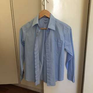 Sky blue long sleeves / button down