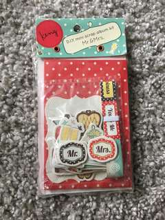 DIY mini scrap album kit mr & mrs