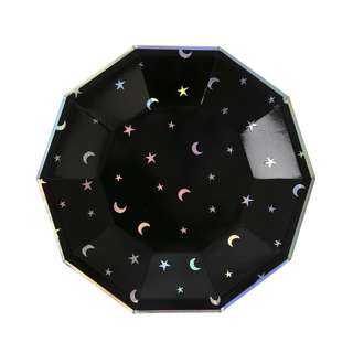 Black Star and Moon Small Plates 7″ (Set of 8)
