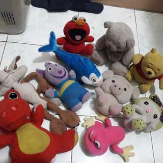 Stuff toys all for 140