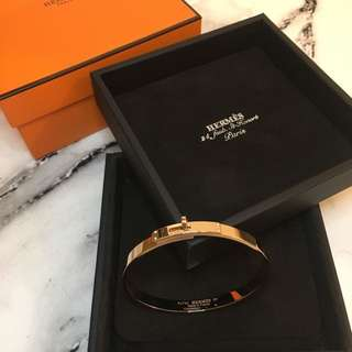全新Hermes Kelly 18k Bracelet with 4 diamonds