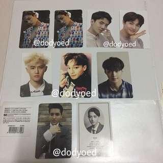 [WTS/WTT] EXO OFFICIAL PHOTOCARDS
