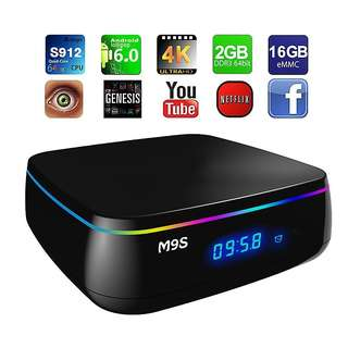 M9S Mix Android TV Box 2GB 16GB Bluetooth S912 Support 5G wifi