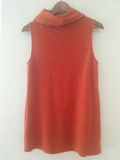 Bardot top burnt orange