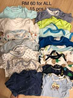 0-3m preloved rompers