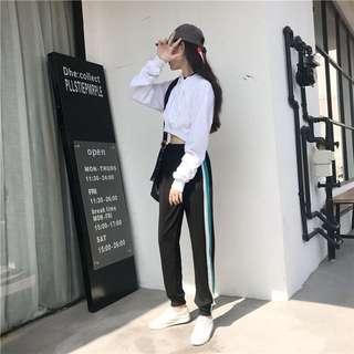 ❤️實拍🇰🇷韓國運動褲束腳百搭哈倫褲