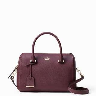 Kate Spade Deep Plum Handbag with Detachable Strap