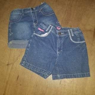 Kids Denim Shorts Bundle - Whatever & Bossini Girls
