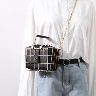 Gabanna Hand Basket Bag (Black)