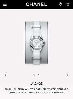 Chanel Ladies Watch J12-XS White