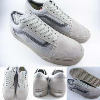 Sepatu Kets Vans Old Skool Classics Canvas Suede Mono All Grey Abu
